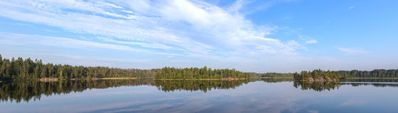Lake in summer day Stock Photography