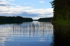 Lake on summer evening Stock Image