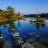 Lake and summer forest. Stock Photography