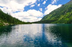 Lake in summer mountains Royalty Free Stock Image