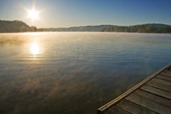 Lake with Sun Royalty Free Stock Photo