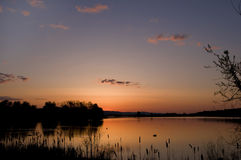 A Lake at sunrise. A small lake in south central Pennsylvania just before sunrise on a calm morning Royalty Free Stock Photo