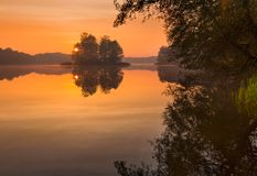 Lake sunrise Royalty Free Stock Image