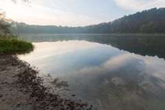 Lake sunrise Stock Image