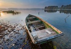 Lake sunrise Stock Photography