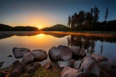 Lake sunrise Royalty Free Stock Photos