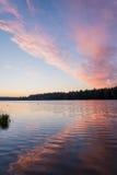 Lake sunrise sky clouds Royalty Free Stock Image