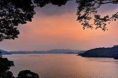 Lake sunse Royalty Free Stock Image