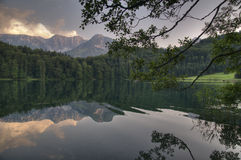 Lake in the sunset Stock Photography