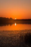 Lake Sunset. Photograph taken at a lake in East Texas Stock Photography