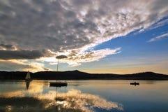 Lake sunset Royalty Free Stock Photography