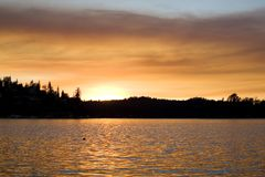 Lake Sunset 3 Stock Photography