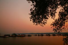 Lake at Sunset Stock Photography