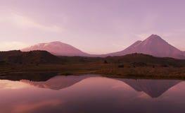 Lake on sunset Royalty Free Stock Photo