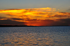 Lake sunset. 2014.10.5 on Lake sunset Royalty Free Stock Photos