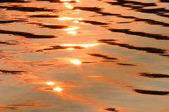 Lake sunset. Color, motion and pattern of a lake at sunset Stock Photography