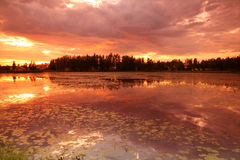 Lake at sunset Royalty Free Stock Photo