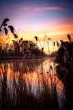 Lake at sunset Royalty Free Stock Photography