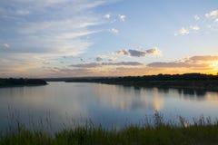 Lake at Sunset. Beautiful Lake at Sunset. Glenmore Reservoir in Calgary, Alberta, Canada Stock Photos