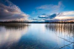 Lake after sunset Stock Photo