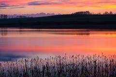 Lake after sunset Stock Image