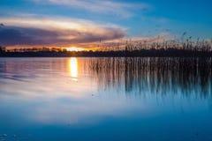 Lake after sunset Stock Photos