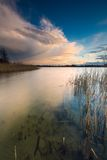 Lake after sunset Royalty Free Stock Image
