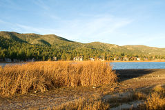 Lake Sunset at Big Bear Stock Photography