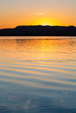 Lake sunset Royalty Free Stock Photo