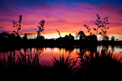 Lake Sunset III Royalty Free Stock Photos