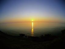 Lake in sunset Stock Image