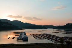 Lake at sunset Royalty Free Stock Photography
