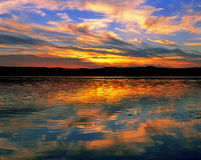 Lake at sunset Royalty Free Stock Image