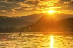 Lake Sunset Stock Photography