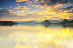 Lake Sunset Royalty Free Stock Photos