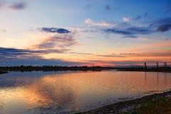 Lake sunset Stock Photo