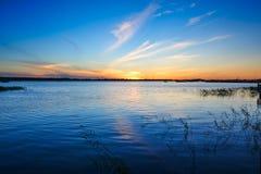 The lake sunset Stock Image