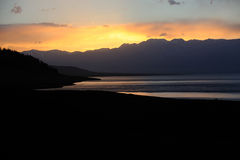 Lake at sunset Royalty Free Stock Photos