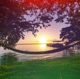 Lake on sunset Stock Photography