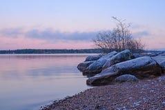Lake in sunset Royalty Free Stock Photos