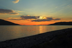 Lake in the sunset Stock Photos