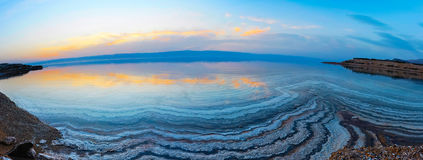 Lake on sunset Stock Photos