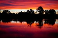 Lake Sunset V Royalty Free Stock Photo