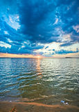 Lake sunset view Royalty Free Stock Photography