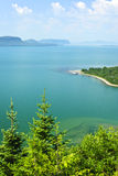 Lake Superior. Beautiful landscape of Lake Superior northern shore from above in Ontario, Canada Royalty Free Stock Images