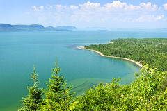 Lake Superior. Beautiful landscape of Lake Superior northern shore from above in Ontario, Canada royalty free stock image
