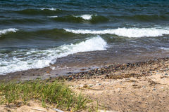 Lake Superior Beach Background Royalty Free Stock Photos