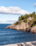 Lake Superior beach and cliffs Royalty Free Stock Photo