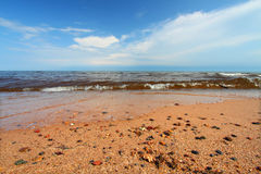 Lake Superior Beach in Michigan Royalty Free Stock Photos