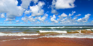 Lake Superior Beach Panoramic Stock Images